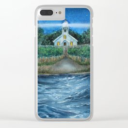 Mission Point Lighthouse Clear iPhone Case