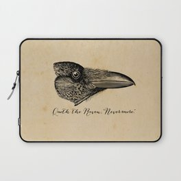Nevermore - Edgar Allan Poe - Quoth the Raven Laptop Sleeve