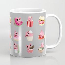 Rosa food collage grey Coffee Mug