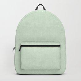 Textured light pistachio. Backpack