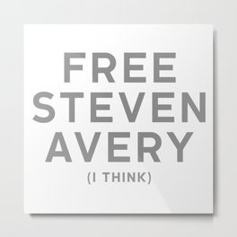 Free Steven Avery Metal Print