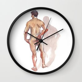 RENATO JR, Nude Male by Frank-Joseph Wall Clock