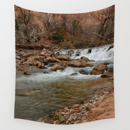 Virgin_River Falls 0898 - Zion Court Wall Tapestry