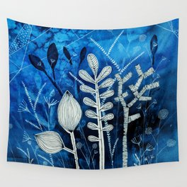 Secret Indigo Garden Wall Tapestry