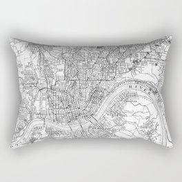 Vintage Map of Cincinnati Ohio (1915) BW Rectangular Pillow