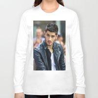 zayn malik Long Sleeve T-shirts featuring Zayn Malik by behindthenoise