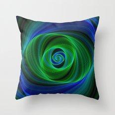 Green blue infinity Throw Pillow