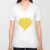 honeycomb V-neck T-shirts featuring Honeycomb by Nikky