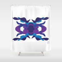 spaceship Shower Curtains featuring Spaceship by David Nuh Omar