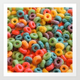 Cereal Loops Art Print