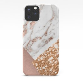 Layers of rose gold iPhone Case