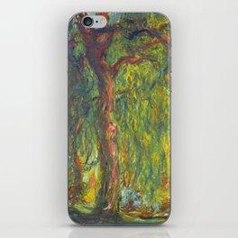 "Claude Monet ""Weeping Willow"" iPhone Skin"