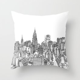 Historical City Throw Pillow