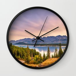 Sunrise Over Kananaskis Mountains Wall Clock