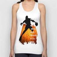 snatch Tank Tops featuring Shooting In Da Gym by Graffixartist