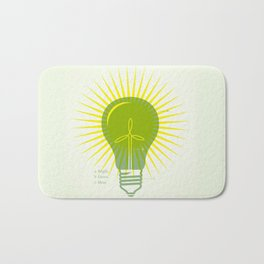 Bright Green Ideas Bath Mat