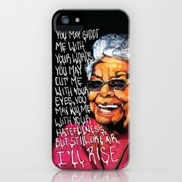 Maya Angelou iPhone Case