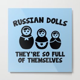 Russian Dolls Metal Print