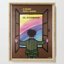 il giorno a colori tutti il giorno vintage Poster Serving Tray