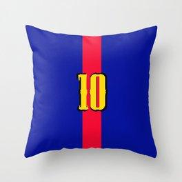 football team 1 number ten Throw Pillow