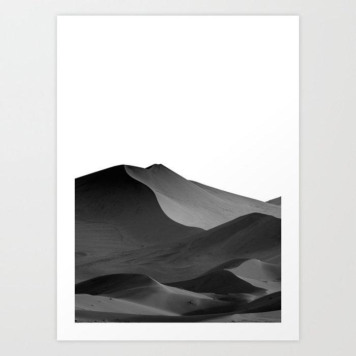 dunes(Black and white) Kunstdrucke