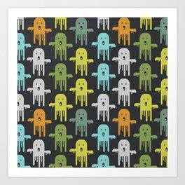Funny ghosts Art Print