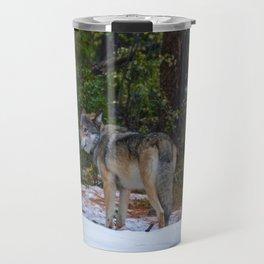 Wolf in Jasper National Park Travel Mug