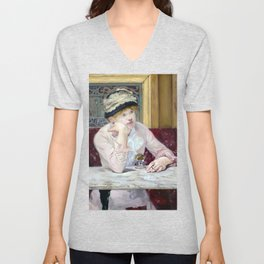 Edouard Manet Plum Brandy Unisex V-Neck