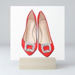 Manolo Red Shoes Mini Art Print