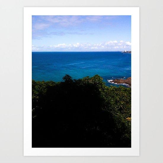 Blue and Sky Art Print