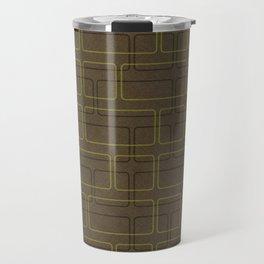 Cuadrados One Brown Travel Mug