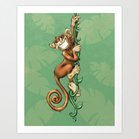 Monkey! Art Print