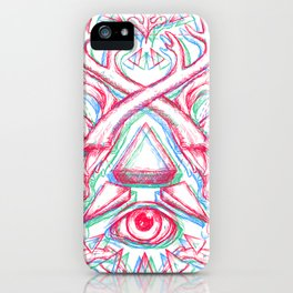 Psychedelic art iPhone Case