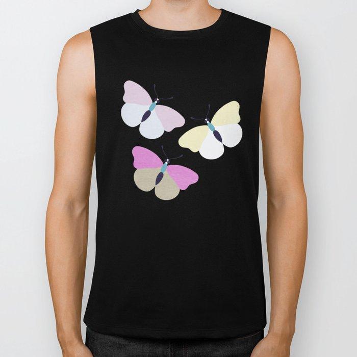 Flower and Butterfly III Biker Tank