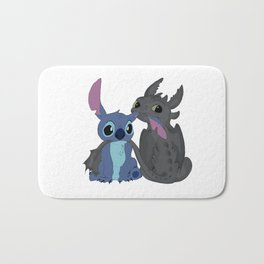 baby toothless and stitch Bath Mat