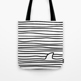Minimal Line Drawing Simple Unique Shark Fin Gift Tote Bag