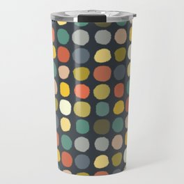 baby ikat spots charcoal Travel Mug