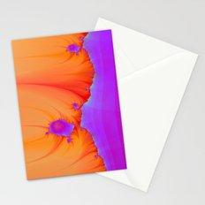 Alien Landscape in pink and Orange Stationery Cards