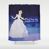 cinderella Shower Curtains featuring Cinderella  by ZeebraPrint
