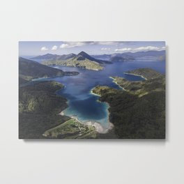 Solitude in the Marlborough Sounds, New Zealand Metal Print