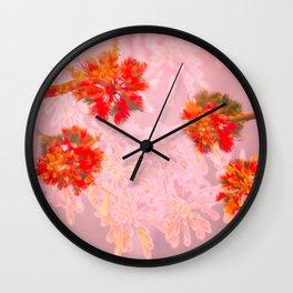 Palm Blossoms v.1 Wall Clock