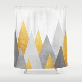 Forest gray and gold Shower Curtain