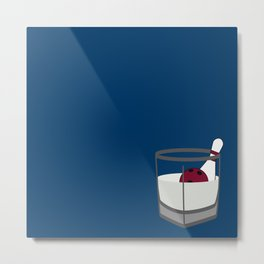 Hey, careful, man, there's a beverage here!  Metal Print