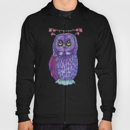 The Great Gray Purple Owl, A Key Holder And Protector Of The Mice Kingdom Hoody