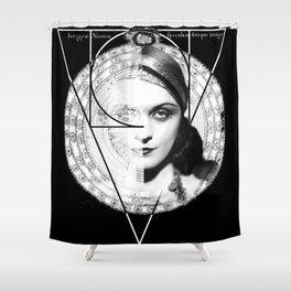Homuncula: Pola Negri dark Shower Curtain