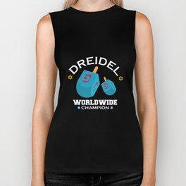 Dreidel Worldwide Champion Hanukkah Biker Tank