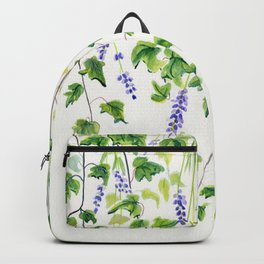Ivy and Lavender Watercolor Backpack