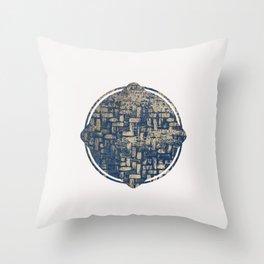 Blue Squircle Throw Pillow