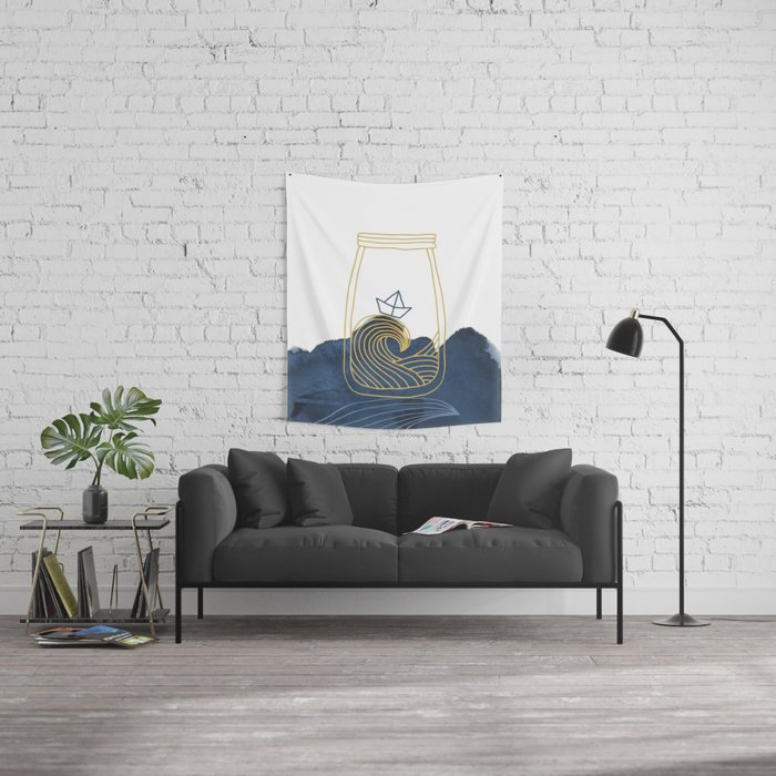 Bottled Sea Wall Tapestry