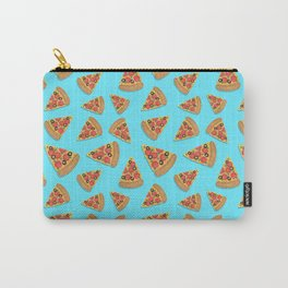 Pizza Party Blue Pattern Carry-All Pouch